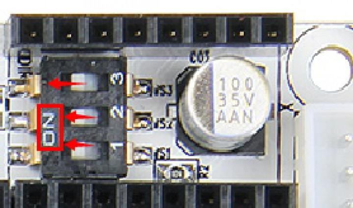 Auf dem GT2560 Board wurden ein Arduino MEGA256 + Ultimaker