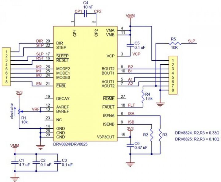 Schema Collegamento Notifier Am 1000 : Drv schrittmotor treiber modul myhobby cnc